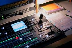 Micrófono del estudio de la TV Imagenes de archivo