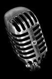 Micrófono del viejo estilo Imagen de archivo libre de regalías