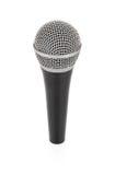 Micrófono metálico negro para la grabación de la voz Imagen de archivo libre de regalías