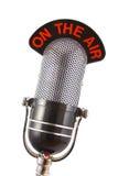Micrófono retro Imagen de archivo libre de regalías