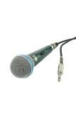 Micrófono y un enchufe Imagen de archivo libre de regalías