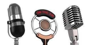 Micrófonos Imagen de archivo libre de regalías