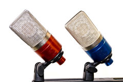 Micrófonos Fotografía de archivo libre de regalías