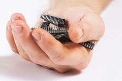 micro руки обломока стоковые изображения