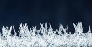 Micro av hoarkristaller Arkivfoto