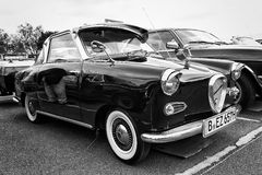 Micro car Goggomobil TS 250 Coupe (black and white) Stock Photos
