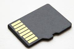 Micro cartão do sd em um fundo branco Imagens de Stock