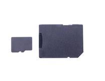 Micro cartão e adaptador do SD Fotos de Stock