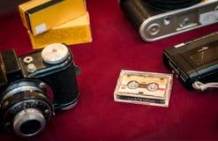 Micro cassetes de banda magnética Foto de Stock Royalty Free