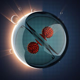 Micro cell scientific illustration Royalty Free Stock Image