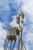 Micro cellular site with outdoor wifi antenna Royalty Free Stock Photography
