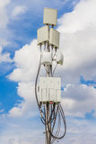 Micro cellular site. Temporary micro cellular site with outdoor wifi antenna Stock Photography