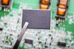 Micro chip fotografia stock libera da diritti