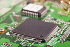 Micro Chip Macro Stock Photography