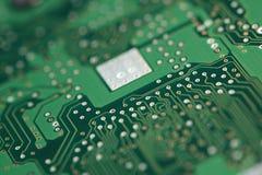 Micro chip sulla scheda di sistema Fotografia Stock