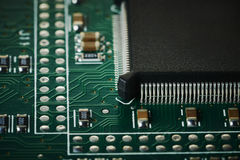 Micro computer chip in detail macro Stock Photography