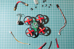 Micro copter assembly parts Stock Photography