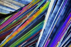 Micro cristalli variopinti alla luce polarizzata fotografia stock libera da diritti