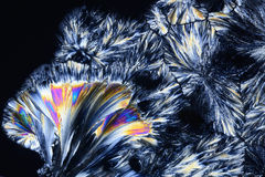 Micro Crystals in polarized Light Stock Photos