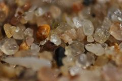 Micro de sable de plage Images stock