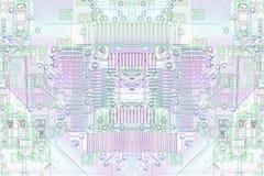 Micro electronics background Stock Photo