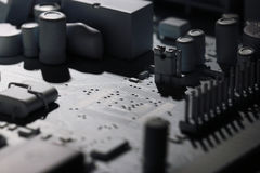 Micro electronics computer chip Royalty Free Stock Photos