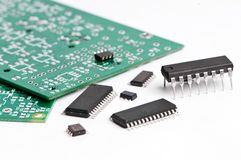 Micro electronics element and board Royalty Free Stock Image
