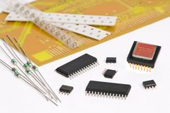 Micro electronics element and board Royalty Free Stock Photos