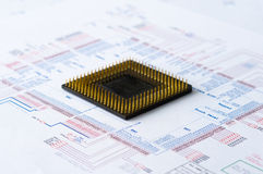Micro Electronics Element And Layout Stock Images