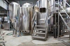 Micro fabbrica di birra Fotografie Stock