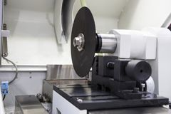 Micro fiber cutting machine Royalty Free Stock Photography