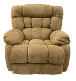 Micro Fiber  Rocker Recliner Stock Photo