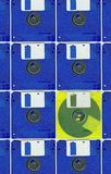 Micro floppy disc color Stock Image