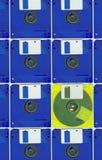 Micro- floppy disk geel blauw Stock Afbeelding