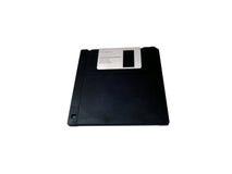 Micro floppy disk  on white Royalty Free Stock Photo