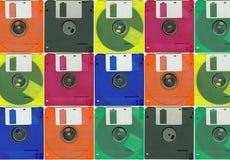 Micro- floppy diskkleur Royalty-vrije Stock Foto's