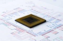 Micro- het Element en de Lay-out van de Elektronika stock afbeeldingen