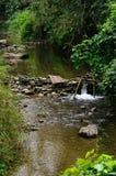 Micro-Hidro eletricidade improvisada do Funcionar--Córrego Foto de Stock Royalty Free