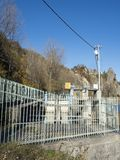 Micro hydroelectric power plant on Doftana river valley Royalty Free Stock Photos