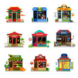 Micro icon shop food store showcase sushi kebab flat vector