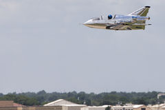 Micro Jet flying at low altitude Stock Photos
