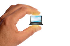 Micro laptop stock photos