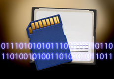 Micro memory card for camera Stock Images