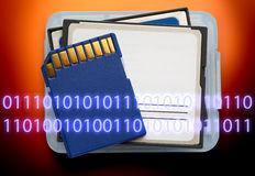 Micro memory card for camera Royalty Free Stock Photography