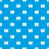Micro microchip pattern vector seamless blue vector illustration