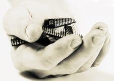 Micro microplaqueta velha fotografia de stock