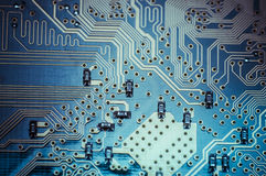 Micro, Motherboard, computer and electronics modern background Stock Images