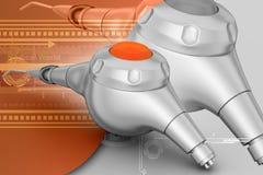 Micro motor dental polisher vector illustration