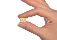 Micro- nano SIM van de handgreep kaart Royalty-vrije Stock Afbeelding
