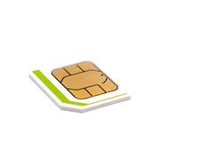 Micro nano simcard isolated on white background.  Royalty Free Stock Photography
